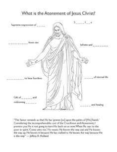 Come, Follow Me (March) What is the Atonement of Jesus Christ? worksheet from True to the Faith
