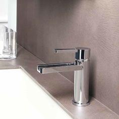 "Features:  -Adjustable height.  -Modern design.  Faucet Design: -Vessel Sink.  Material: -Brass. Dimensions:  Overall Faucet Height: -12.4"".  Overall Faucet Width: -2"".  Overall Faucet Depth: -6.69""."