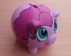 Purple Polka Dot Piggy Bank | Popular items for pinkie pie