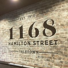 Painted sign on brick Sign I, Painted Signs, Brick, How To Make, Painting, Design, Home Decor, Homemade Home Decor, Bricks
