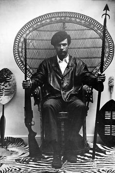 "Huey Newton: ""The racist dog policemen must withdraw immediately from our communities, cease their wanton murder and brutality and torture of black people, or face the wrath of the armed people."" January 17, 1969"