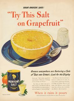 Morton Salt Vintage Ad from 1946