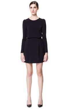 STUDIO DRESS WITH TUCKS ON THE SHOULDER from Zara $99.90                                             ]4