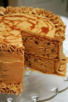 Triple Butterscotch Cake