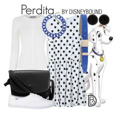 Perdita by leslieakay on Polyvore featuring polyvore fashion style Oasis BaubleBar Versace clothing disney disneybound nationaldogday