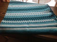 Beautiful fair isle crochet afghan blanket   http://www.ravelry.com/patterns/library/fair-isle-afghan-3/people