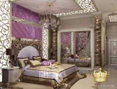 This bedroom -wow...classy or what !
