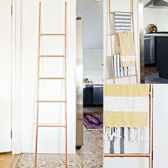 DIY Copper-Pipe Ladder | POPSUGAR Home