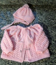 How to tutorial knitting and crochet baby pattern free Baby Knitting Patterns, Baby Cardigan Knitting Pattern Free, Baby Sweater Patterns, Knitting For Kids, Baby Patterns, Knitting Ideas, Cardigan Bebe, Knitted Baby Blankets, Sweater Set