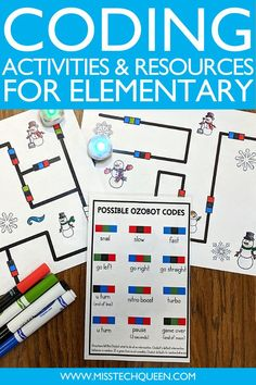 I'm sharing multiple FREE resources that will make it easy and fun to start teaching coding in the classroom! This week is Computer Science Education Week, but teaching about coding and technology is something I'm passionate about year-round. Your students will love my free Ozobot mats, and there's even crowns and certificates to acknowledge your students' special achievements.