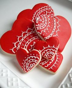 Very pretty cookies, perfect for V day.