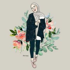 Your scarf is a vital bit from the attire of girls using hijab. As it is the central addition this does the p Muslim Fashion, Hijab Fashion, Fashion Sketches, Art Sketches, Tmblr Girl, Hijab Drawing, Bff Drawings, Anime Muslim, Hijab Cartoon
