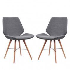 Gestoffeerde stoelen Tove I (2-delige set) - geweven stof | home24.nl