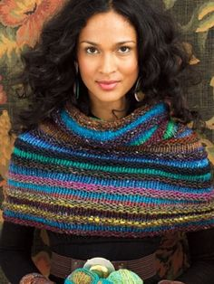 Welted Cowl - Free Knitted Pattern - (knittingfever)