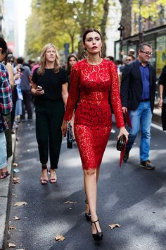 Red Lace dress | MFW