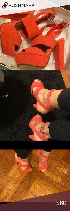 🆕Steve Madden High Heels😍 Coral Platform High Heels Steve Madden Shoes Heels