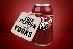This Pepper is yours! Best Soda, Dr Pepper Can, Soda Bottles, Bon Appetit, Christmas Fun, Gifts For Friends, Stuffed Peppers, Diet, My Favorite Things
