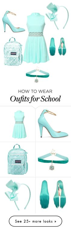 """""""Untitled #1"""" by nygmariddler on Polyvore featuring WithChic, Gucci, JanSport and Warner Bros."""