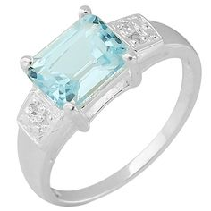 We're You Born on November? 1.87ctw Genuine Blue Topaz and Diamond Ring (925 Sterling Silver), Retail $165