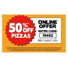 50% Off on Pizzas @ Domino`s Pizza - Bargain Bro