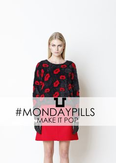 Pop-Kissed Sweater: MAKE IT POP!  #SpaceStyleConcept #FallWinter14 #Sweater #Pop #MondayPills