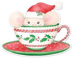 Christmas mug with mouse