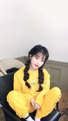 IU IU cami over Joao # # This yellow - iu - Pretty Korean Girls, Cute Korean Girl, Iu Fashion, Korean Fashion, Korean Girl Photo, Epic Cosplay, Model Face, Kdrama Actors, Poses