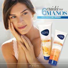 El contacto constante con el agua puede dejar tus manos resecas. Llevá siempre tu crema de manos Avon Care en la cartera para humectarlas en todo momento.
