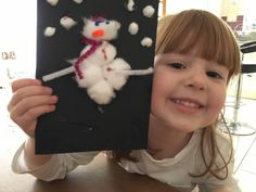 Homemade Snowman Christmas Card