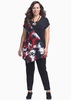 Plus Size Ladies' Tops in Australia - White, Black, Mesh & More - SMOKE TUNIC
