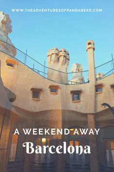 """What to do in Barcelona, if you only have a weekend? 2-3 day itineraries for various cities courtesy of my new monthly series """"A Weekend Away.""""   Weekend Itinerary, Weekend Getaway, Trip Itineraries, Short Trips, Travel, Spain, Southern Europe, Mediterranean Sea, Things to Do, Things to See, Sights to See, Barcelona, Antoni Gaudi, Pablo Picasso, Parc de la Ciutadella, Arc de Triomf, Parc Guell, La Sagrada Familia, Barri Gotic, Las Ramblas, Barcelona Cathedral, Basilica de Santa Maria del Mar"""