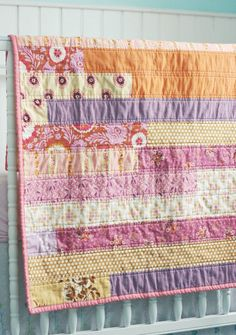 Modern Baby Quilt by BlueElephantStitch on Etsy