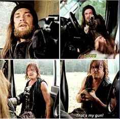 The Walking Dead Season 6 Episode 10 'The Next World' Daryl Dixon and Jesus