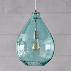 Oversized Light Pool Glass Waterdrop Pendant from Pottery Barn Teen Beach Lighting, Coastal Lighting, Coastal Decor, Home Lighting, Pendant Lighting, Kitchen Lighting, Coastal Entryway, Coastal Rugs, Coastal Bedding