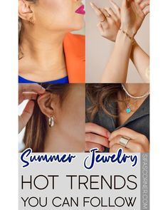 Summer Jewelry Trends || What are the hottest jewelry trends for summer? || #fashion #summerfashion #jewelry #sifascorner Elegant Style Women, Current Fashion Trends, Summer Jewelry, Jewelry Trends, Fashion Accessories, Casual Outfits, Outfit Ideas, Stylish, Womens Fashion