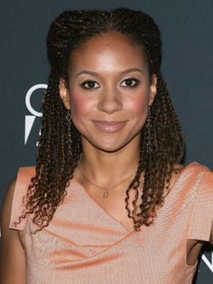 Tracie Thoms in kinky twists with partial updo.