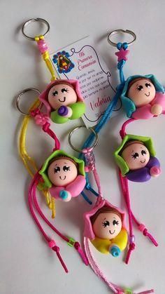souvenirs bautizo en pasta - Buscar con Google Ideas Bautizo, Pasta Flexible, Doilies, Polymer Clay, Christmas Ornaments, Holiday Decor, Ely, Crafts, Crochet