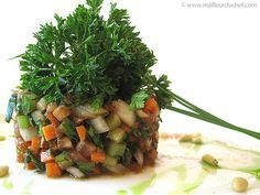 Tartare de légumes croquants au cumin - Meilleur du Chef