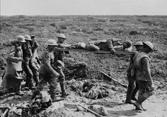 Canadian stretcher bearers and German prisoners of war bring in wounded at Vimy Ridge - Found via The Passion of Former Days Canadian Soldiers, Canadian Army, Canadian History, World War One, First World, Commonwealth, Ww1 Posters, War Of Attrition, Ww1 History