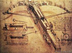 Leonardo da Vinci - Giant catapult, c.1499