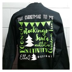 Monogrammed Talk Christmas to Me. Monogrammed. by ElleQDesigns