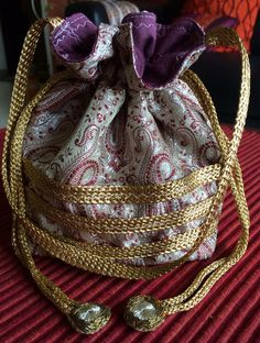 Brocade Silk Potli Bag