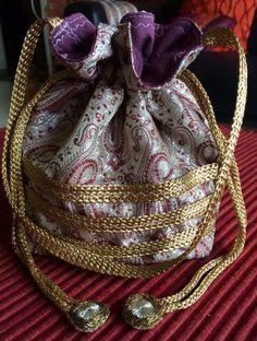 Brocade Silk Potli Bag