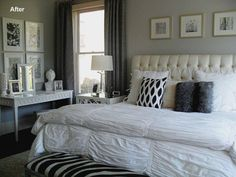 Grey And White Bedroom - http://agmfree.com/0209/home-design-interior/grey-and-white-bedroom/5650