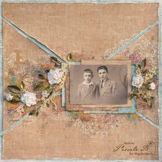 "Layout ""Brothers"" by Pascale B. Gorgeous! <3  Papers from MajaDesign's Vintage Romance and Enjoying Outdoors.    #layout #LO #lo #scrapbooking #scrapbook #scrapping #scrap #papercraft #papercrafting #papercrafts #majadesign #majadesignpaper #majapapers #inspiration #vintage"