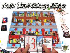 Train Line: Chicago Edition coming soon to Kickstarter. Replay, Line, Chicago, Hands, Train, Fishing Line, Strollers