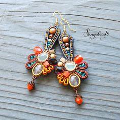 Soutache earrings made to order. Soutache jewelry. by Sengabeads