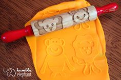 Lion and Monkey Kids Wooden Laser Cut Mini Rolling Pin