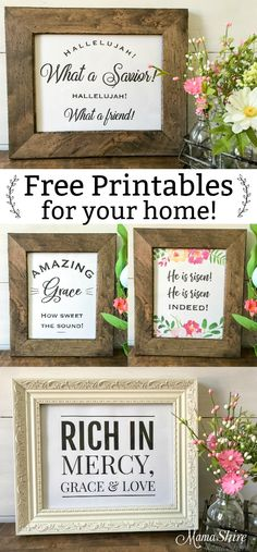 Free Printables Christian Wall Art - Spring and Easter Decor