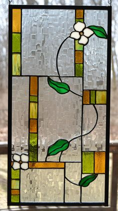 Stained glass panel abstract white flowering vine 19 x – Verre et de vitrailes Modern Stained Glass, Making Stained Glass, Stained Glass Flowers, Faux Stained Glass, Stained Glass Lamps, Stained Glass Designs, Stained Glass Panels, Stained Glass Projects, Stained Glass Patterns